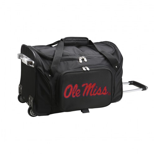 """Mississippi Rebels 22"""" Rolling Duffle Bag"""