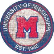 """Mississippi Rebels 24"""" Heritage Logo Round Sign"""