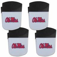 Mississippi Rebels 4 Pack Chip Clip Magnet with Bottle Opener