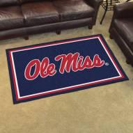 Mississippi Rebels 4' x 6' Area Rug