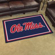 Mississippi Rebels 4' x 6' Area Rug