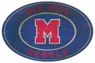 """Mississippi Rebels 46"""" Heritage Logo Oval Sign"""