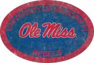 """Mississippi Rebels 46"""" Team Color Oval Sign"""