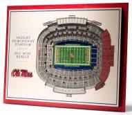 Mississippi Rebels 5-Layer StadiumViews 3D Wall Art