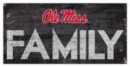 "Mississippi Rebels 6"" x 12"" Family Sign"