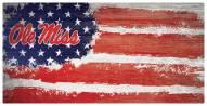 """Mississippi Rebels 6"""" x 12"""" Flag Sign"""