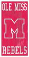 """Mississippi Rebels 6"""" x 12"""" Heritage Logo Sign"""