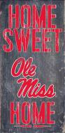 "Mississippi Rebels 6"" x 12"" Home Sweet Home Sign"