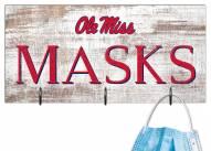 """Mississippi Rebels 6"""" x 12"""" Mask Holder"""