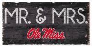 """Mississippi Rebels 6"""" x 12"""" Mr. & Mrs. Sign"""
