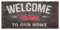 "Mississippi Rebels 6"" x 12"" Welcome Sign"