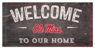 "Mississippi Rebels 6"" x 12"" Welcome Sign"