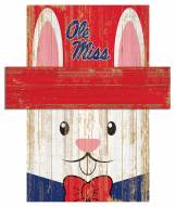 "Mississippi Rebels 6"" x 5"" Easter Bunny Head"