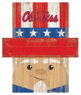 "Mississippi Rebels 6"" x 5"" Patriotic Head"