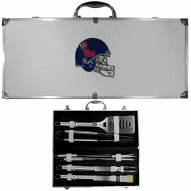 Mississippi Rebels 8 Piece Stainless Steel BBQ Set w/Metal Case