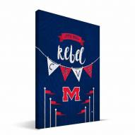 "Mississippi Rebels 8"" x 12"" Little Man Canvas Print"