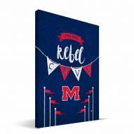 "Mississippi Rebels 8"" x 12"" Little Man Canvas Print"