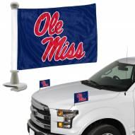 Mississippi Rebels Ambassador Hood & Trunk Car Flag