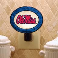 Mississippi Rebels Art Glass Night Light