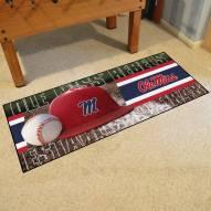 Mississippi Rebels Baseball Runner Rug