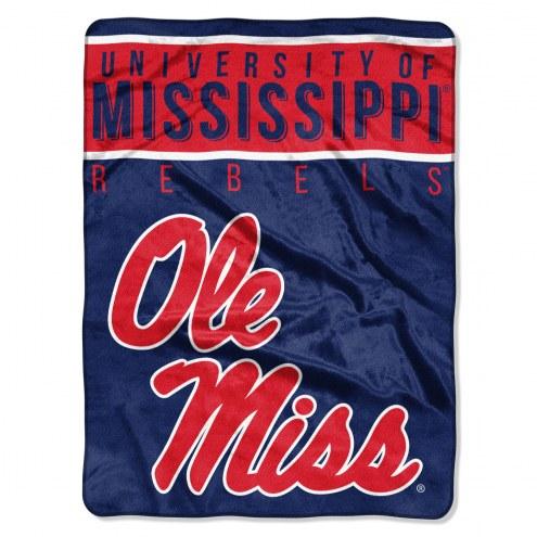 Mississippi Rebels Basic Plush Raschel Blanket