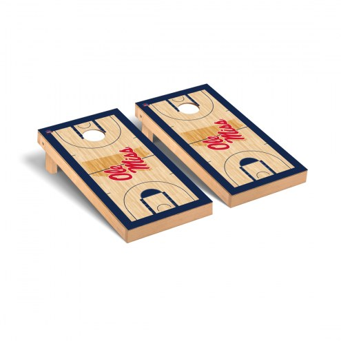 Mississippi Rebels Basketball Court Cornhole Game Set