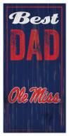 Mississippi Rebels Best Dad Sign
