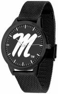 Mississippi Rebels Black Dial Mesh Statement Watch