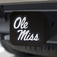 Mississippi Rebels Black Matte Hitch Cover