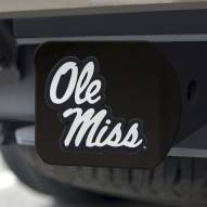 Mississippi Rebels Black Matte Hitch Cover