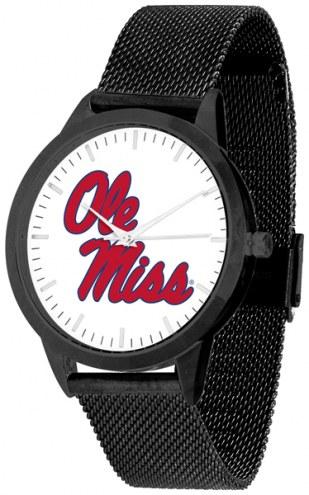 Mississippi Rebels Black Mesh Statement Watch
