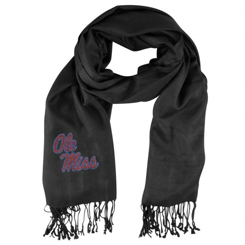 Mississippi Rebels Black Pashi Fan Scarf