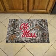Mississippi Rebels Camo Scraper Door Mat