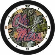 Mississippi Rebels Camo Wall Clock