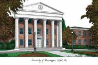 Mississippi Rebels Campus Images Lithograph