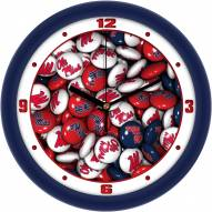 Mississippi Rebels Candy Wall Clock