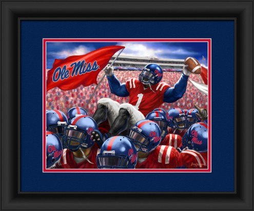 Mississippi Rebels Celebration Framed Print