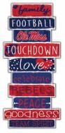 Mississippi Rebels Celebrations Stack Sign