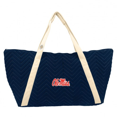 Mississippi Rebels Chevron Stitch Weekender Bag
