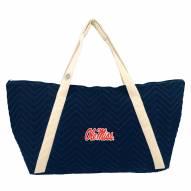 Mississippi Rebels Chevron Stitch Weekender Bag