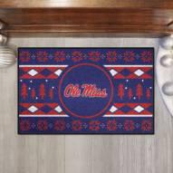 Mississippi Rebels Christmas Sweater Starter Rug