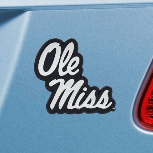 Mississippi Rebels Chrome Metal Car Emblem
