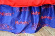 Mississippi Rebels Bed Skirt