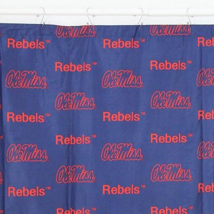 Mississippi Rebels Shower Curtain
