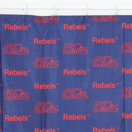 Mississippi Rebels Shower Curtain