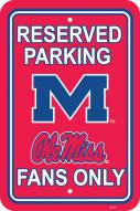 Mississippi Rebels College Parking Sign