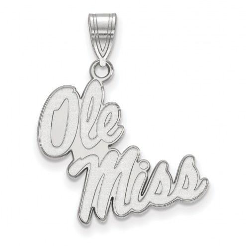 Mississippi Rebels Sterling Silver Large Pendant