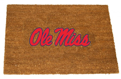 Mississippi Rebels Colored Logo Door Mat