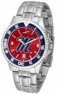 Mississippi Rebels Competitor Steel AnoChrome Color Bezel Men's Watch