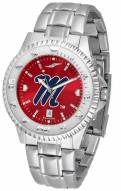 Mississippi Rebels Competitor Steel AnoChrome Men's Watch